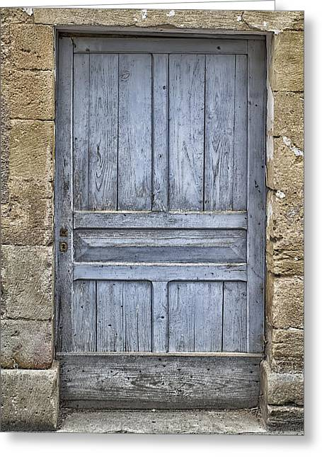 South West France Greeting Cards - Blue Dordogne Door Greeting Card by Nomad Art And  Design