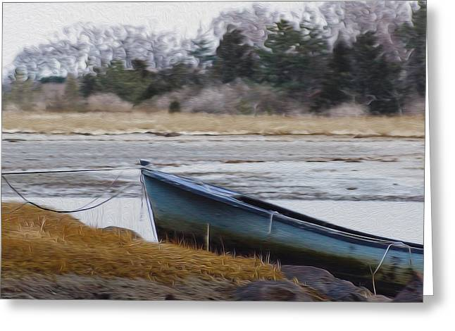 Cohasset Greeting Cards - Blue Dory Greeting Card by Carol Sutherland
