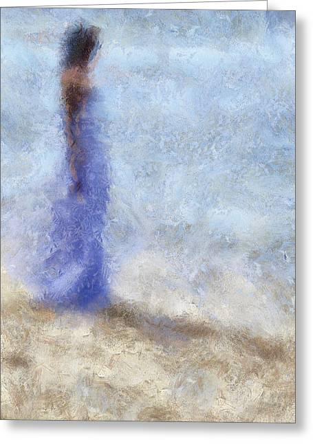Blue Dream. Impressionism Greeting Card by Jenny Rainbow