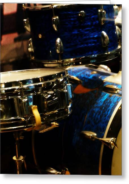 Nashville Tennessee Greeting Cards - Blue Drums Greeting Card by Laurie Pike