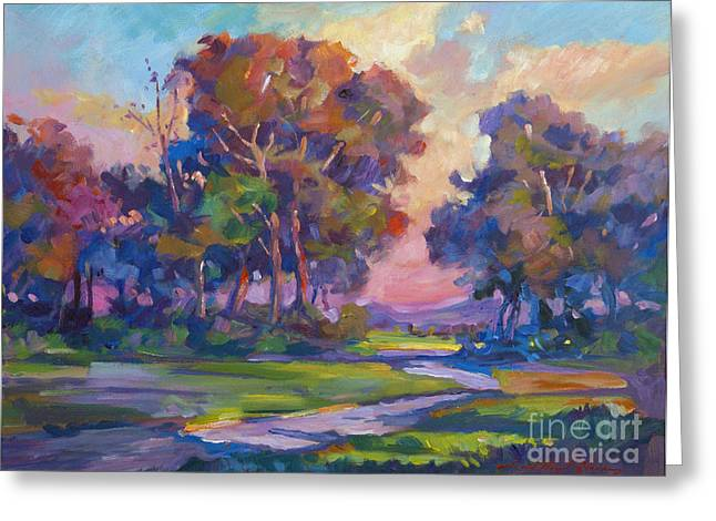 Scenery Scenic Greeting Cards - Blue Dusk Greeting Card by David Lloyd Glover