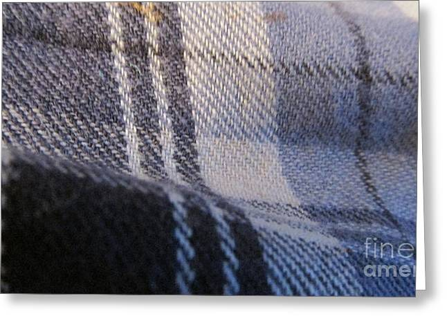Abstract Forms Tapestries - Textiles Greeting Cards - Blue Greeting Card by Edward Boggs