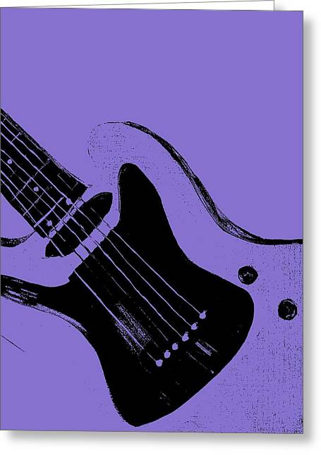 Most Viewed Digital Greeting Cards - Blue Electric Guitar Greeting Card by Mark Moore