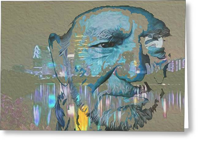 The Celestial Painter Greeting Cards - Blue Eyes Cryin Greeting Card by Jimi Bush
