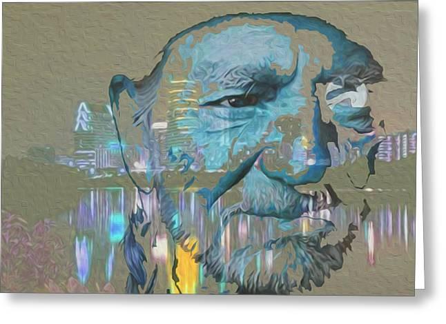 Blue Eyes Cryin' Greeting Card by Jimi Bush