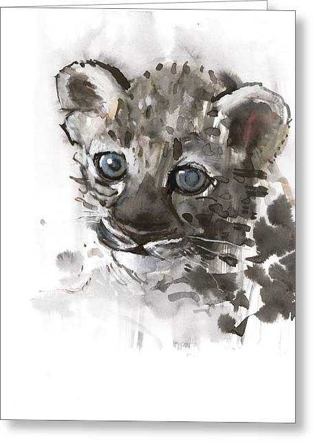 Panthera Greeting Cards - Blue Eyes Greeting Card by Mark Adlington