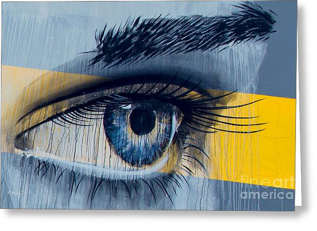 Eyelash Greeting Cards - Blue Eyes That Look into Your Soul Greeting Card by Rene Triay Photography