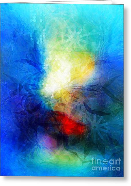Mystic Art Greeting Cards - Blue Fantasy 10 Greeting Card by Artwork Studio