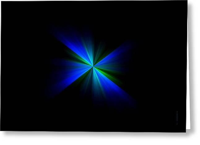 Tones Greeting Cards - Blue flash Greeting Card by Mario  Perez