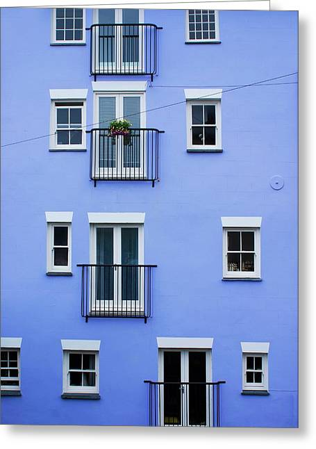 Blue Flats Greeting Card by Mark Williamson