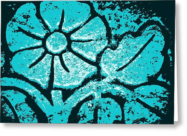 Blue Flower Greeting Card by Chris Berry