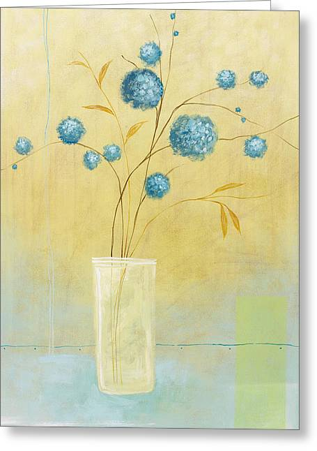 Pablo Greeting Cards - Blue Flowers Greeting Card by Pablo Esteban