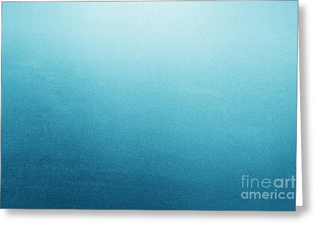 Frosted Glass Greeting Cards - Blue frosted glass background Greeting Card by Michal Bednarek