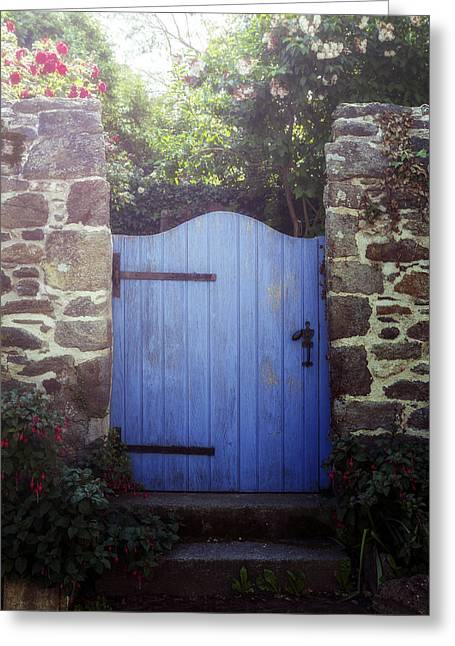 France Doors Greeting Cards - Blue Gate Greeting Card by Joana Kruse