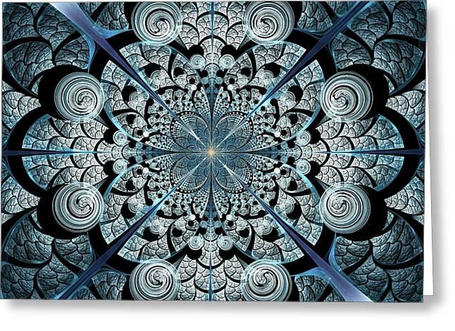 Flower Works Greeting Cards - Blue Gates Greeting Card by Anastasiya Malakhova