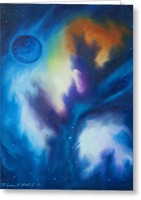 Star Nursery Greeting Cards - Blue Giant Greeting Card by James Christopher Hill
