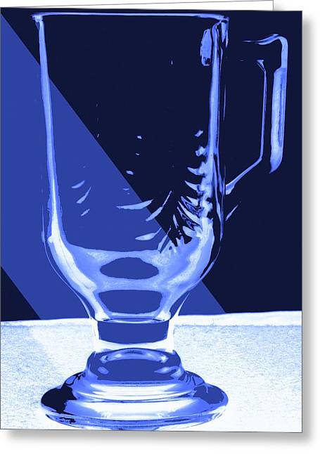 Stein Mixed Media Greeting Cards - Blue Glass Greeting Card by Bob Pardue