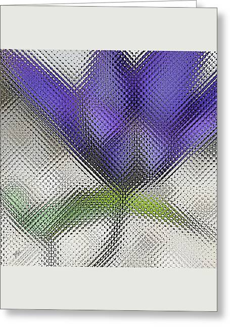 Abstract Flowers And Leaves Greeting Cards - Blue Glass Flower Greeting Card by Ben and Raisa Gertsberg