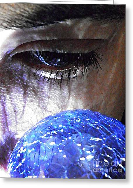 Sarah Loft Photographs Greeting Cards - Blue Glass World Greeting Card by Sarah Loft
