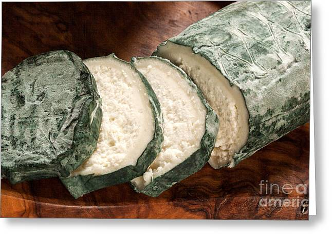 Lovers Art On Print Greeting Cards - Blue Goat Cheese Greeting Card by Iris Richardson