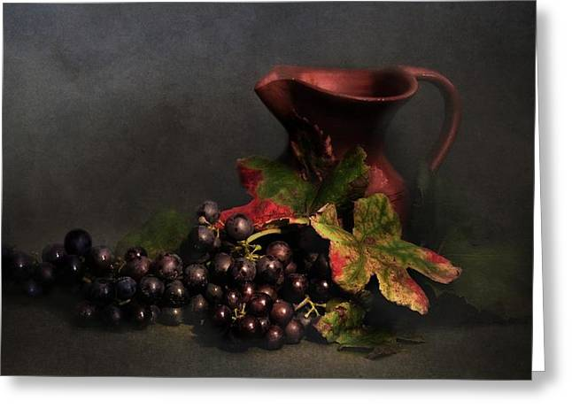 Blue Grapes Photographs Greeting Cards - Blue grapes Greeting Card by Hugo Bussen