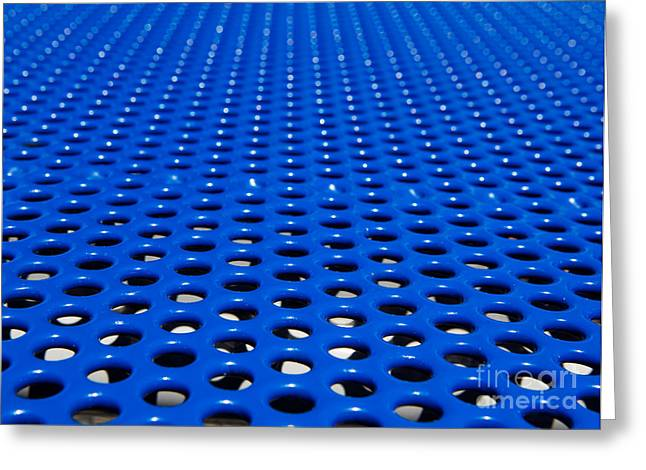 Meshed Photographs Greeting Cards - Blue grate Greeting Card by Robert Keenan