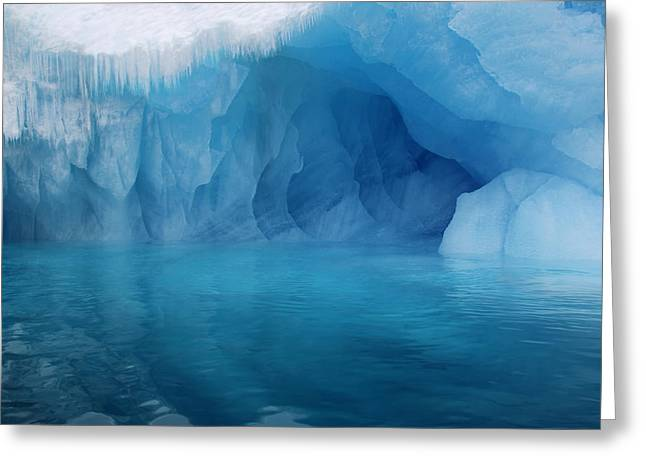 Water In Caves Greeting Cards - Blue Grotto Greeting Card by Ginny Barklow
