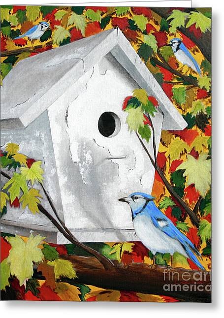 Andrew Wells Greeting Cards - Blue Habitat Greeting Card by Andrew Wells
