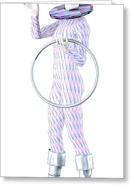Pantomime Greeting Cards - Blue Harlequin Greeting Card by Joaquin Abella
