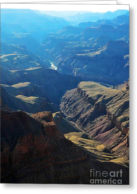 Beauty In Nature Greeting Cards - Blue Haze over Grand Canyon Inner Gorge Greeting Card by Shawn O
