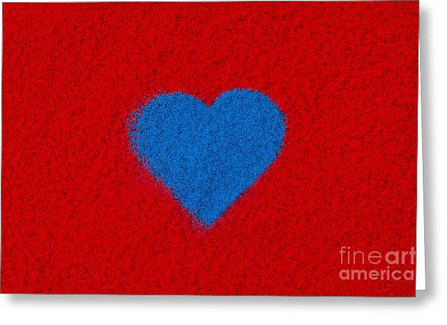 Luv Greeting Cards - Blue Heart Greeting Card by Tim Gainey