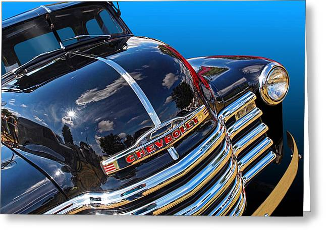 Classic Pickup Photographs Greeting Cards - Blue Heaven Greeting Card by Gill Billington