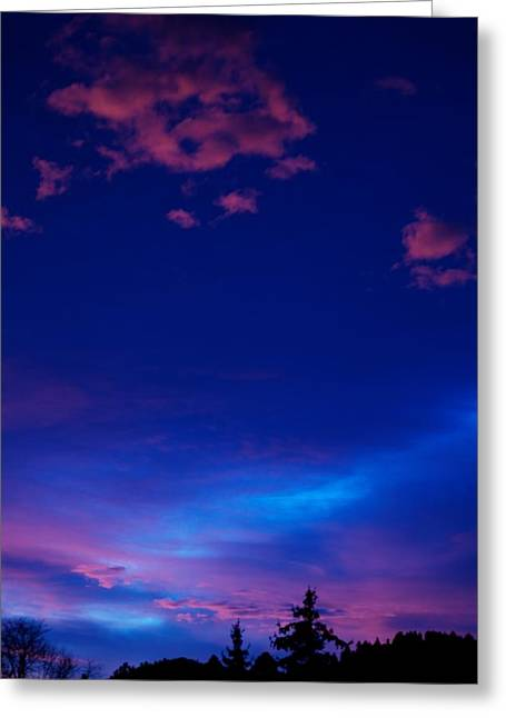 Sunset Posters Greeting Cards - Blue Heaven  Greeting Card by Kevin Bone