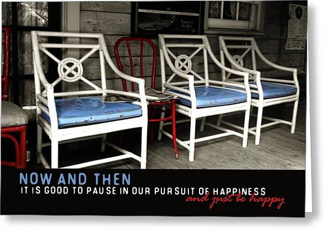 Best Sellers -  - Pause Greeting Cards - BLUE HEAVEN quote Greeting Card by JAMART Photography