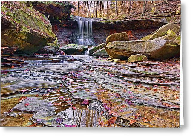 Up And Coming Greeting Cards - Blue Hen waterfalls Greeting Card by Marcia Colelli