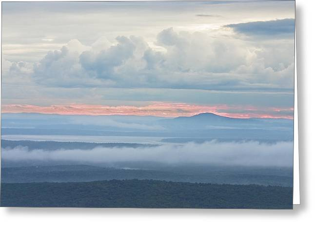 Acadia National Park Greeting Cards - Blue Hill from Cadillac Mountain Acadia National Park Greeting Card by Keith Webber Jr