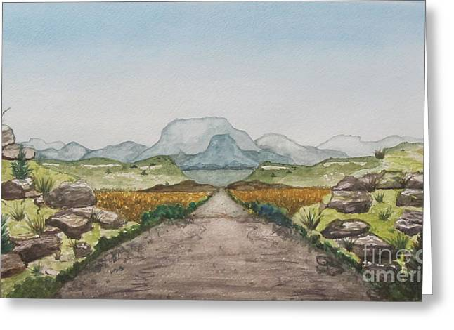 Blue Hills Destination Greeting Card by Jeanne Ward