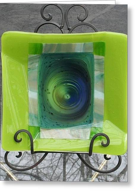 Iron Glass Greeting Cards - Blue Hole Platter  Greeting Card by Jill Groves
