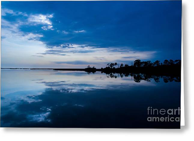 Cedar Key Greeting Cards - Blue Horizon Greeting Card by Kathi Shotwell