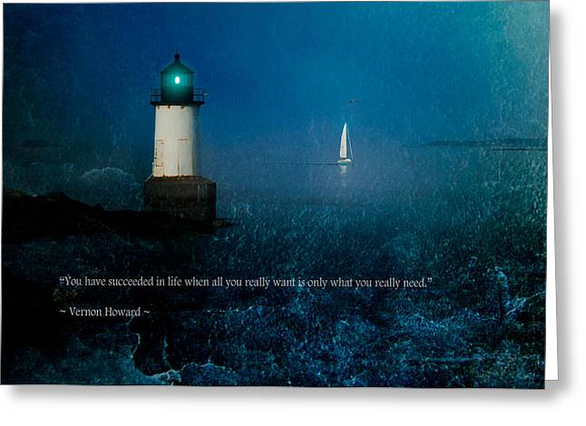 Solitude Greeting Cards - Blue horizon poster Greeting Card by Jeff Folger