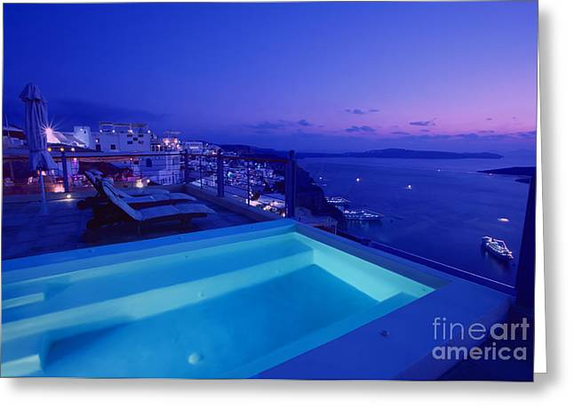 Evening Scenes Greeting Cards - Blue hour Greeting Card by Aiolos Greek Collections