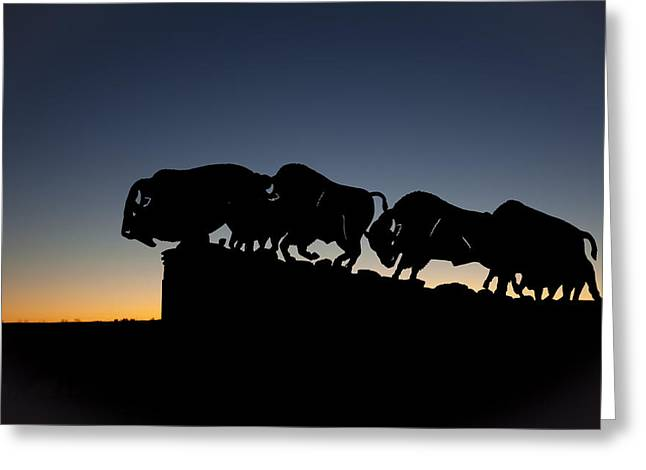 Mancave Photos Greeting Cards - Blue Hour at Caprock Canyons State Park Greeting Card by Melany Sarafis