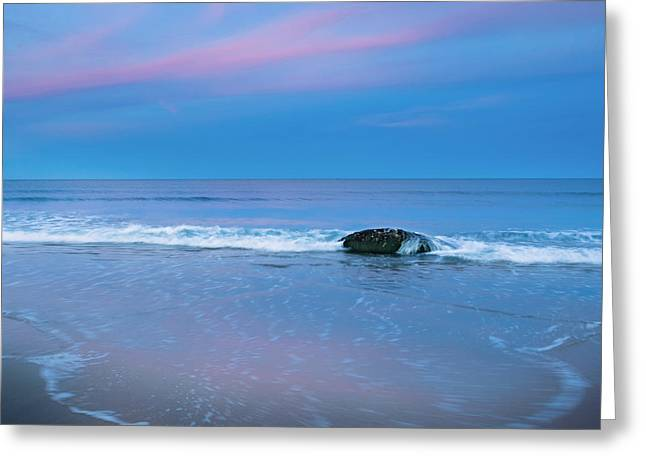 Square Format Greeting Cards - Blue Hour Beach Square Greeting Card by Bill  Wakeley