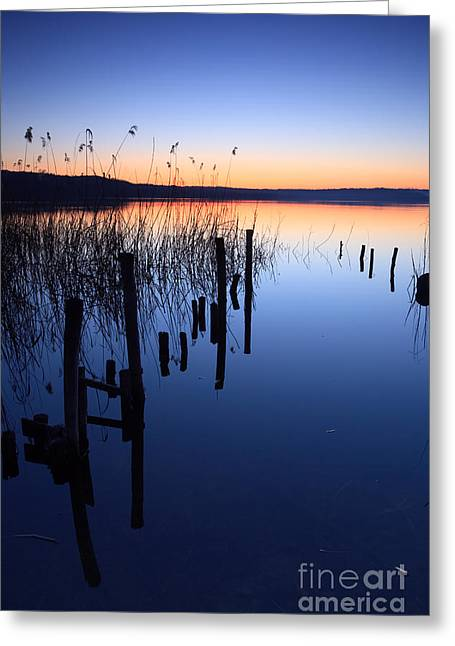 Italian Lake Greeting Cards - Blue hour II Greeting Card by Matteo Colombo