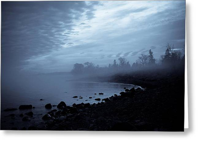 Blue Hour Mist Greeting Card by Mary Amerman