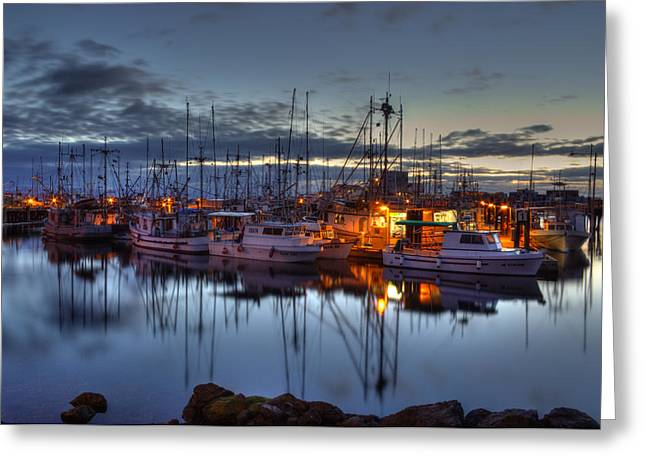 Blue Hour Greeting Card by Randy Hall