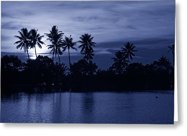 Kerala Greeting Cards - Blue Hour Sunset Greeting Card by Mountain Dreams