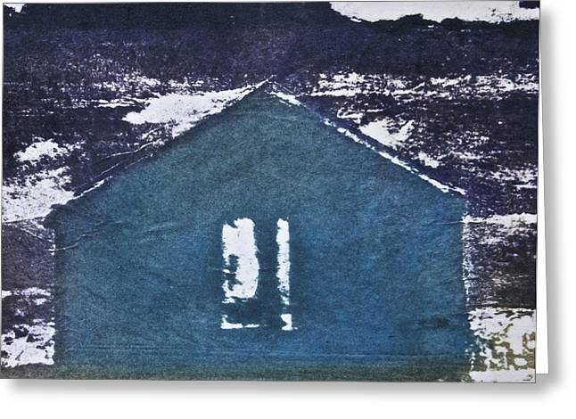 The White House Photographs Mixed Media Greeting Cards - Blue House Greeting Card by Deborah Talbot - Kostisin