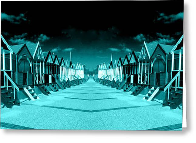 Sheds Greeting Cards - Blue Huts  Greeting Card by Rob Hawkins