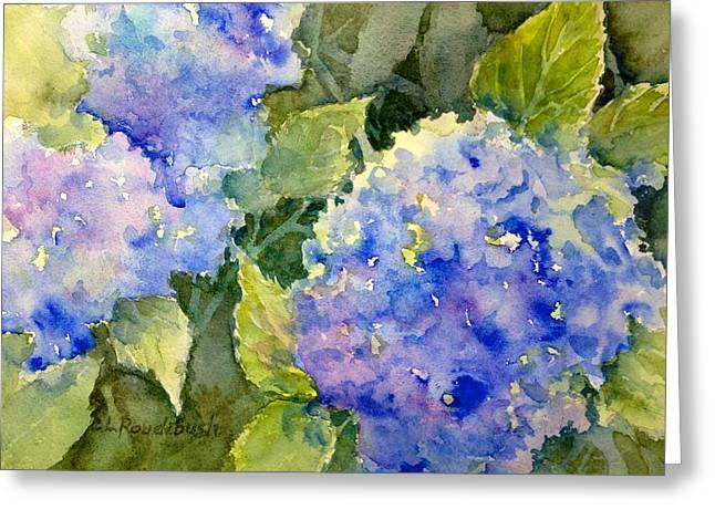 Blue Hydrangea Greeting Card by Cynthia Roudebush